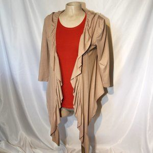 3for15$  beige tan open vest small